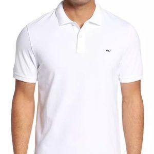 Vineyard Vines Shirts - Vineyard  Vines Regular Fit Pique Polo White XL